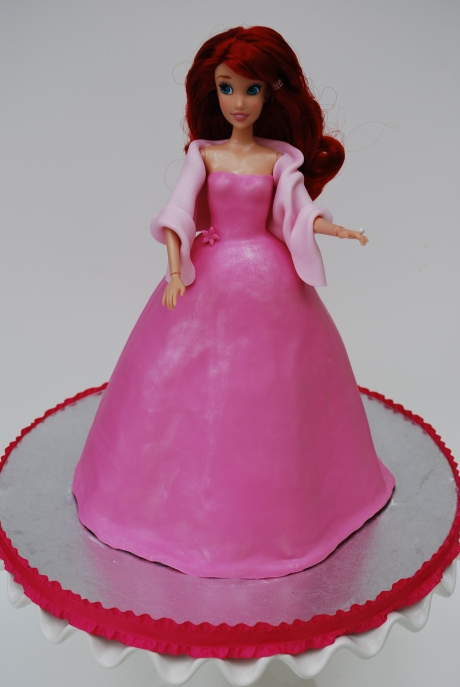 Ariel Pink Gown Cake