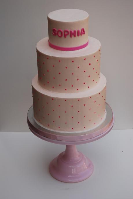 Pink dot cake
