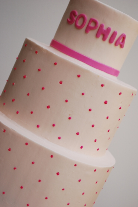 Close up Dot Cake