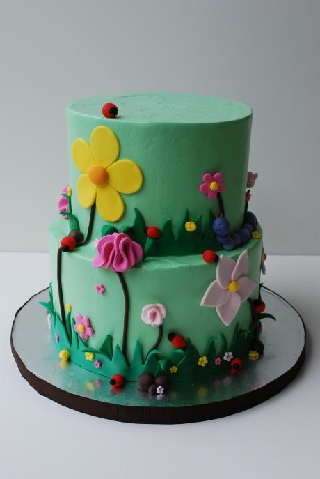 Ladybug garden cake