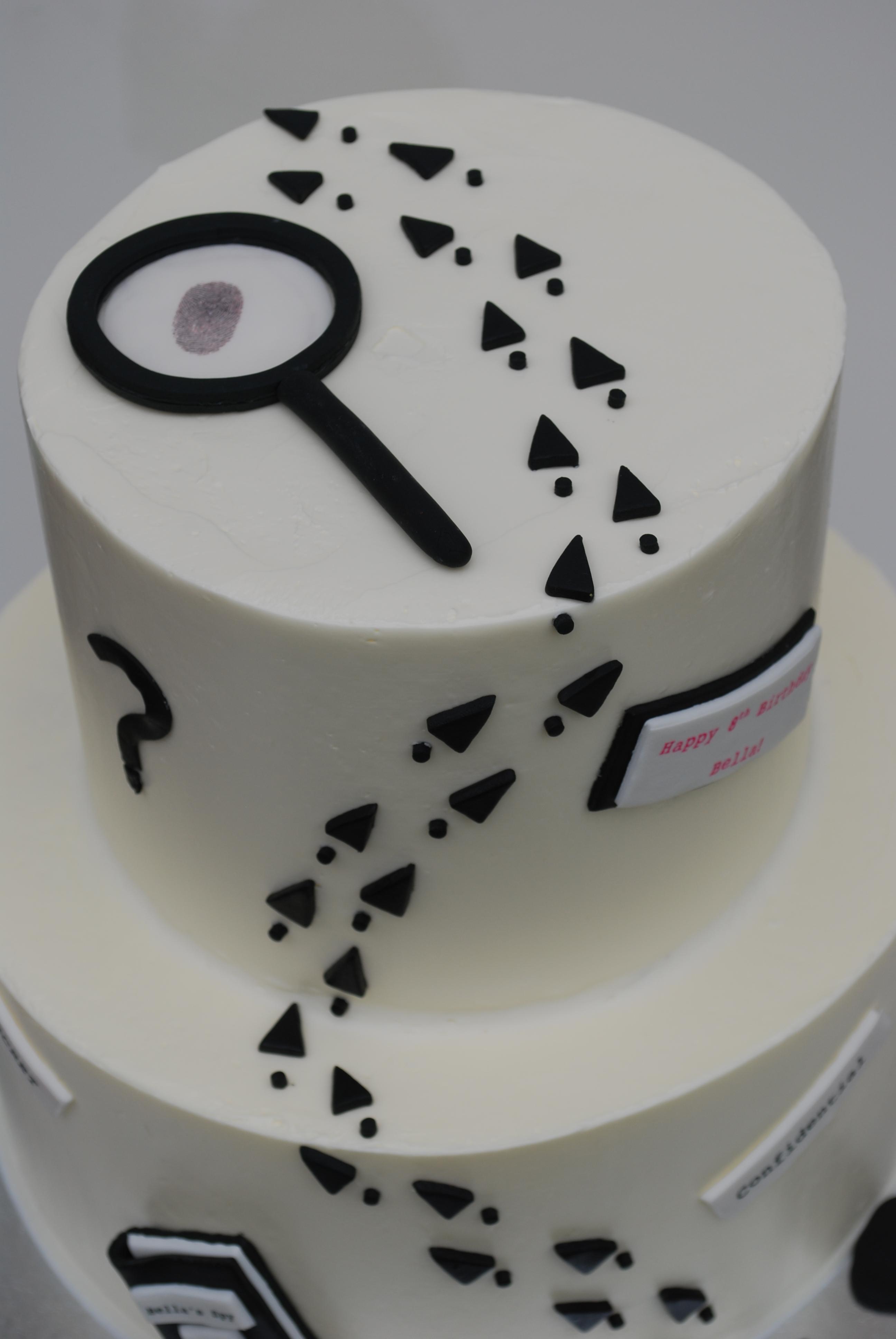 Fine Spy Cake Sweetworldofcakes Birthday Cards Printable Giouspongecafe Filternl
