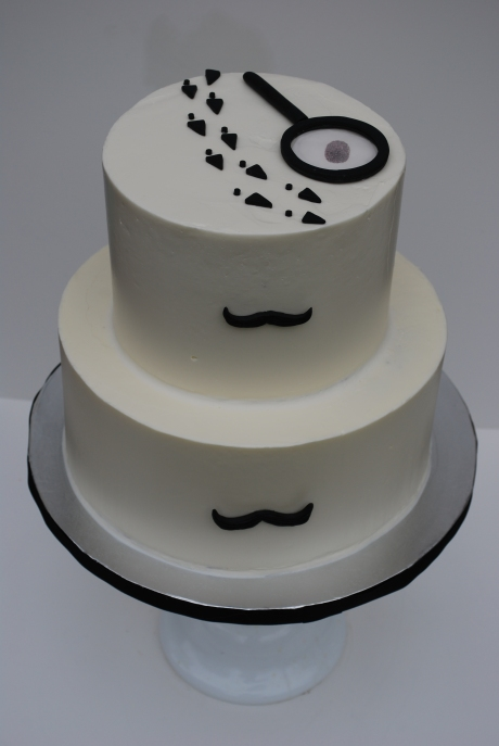 Spy cake mustaches