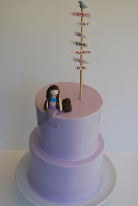 Purple Graduation/Birthday Cake