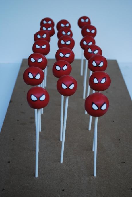 Spider man cake pop