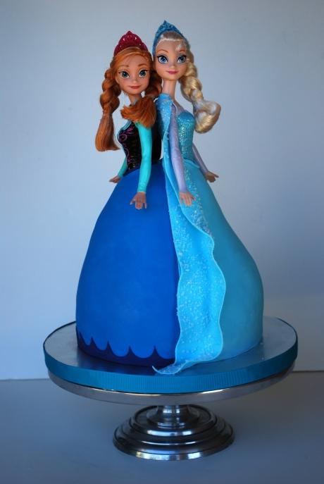 Anna Elsa Barbie Cake